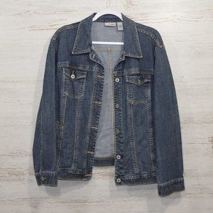 Chico's  Platinum  Denim Trucker Jean Jacket